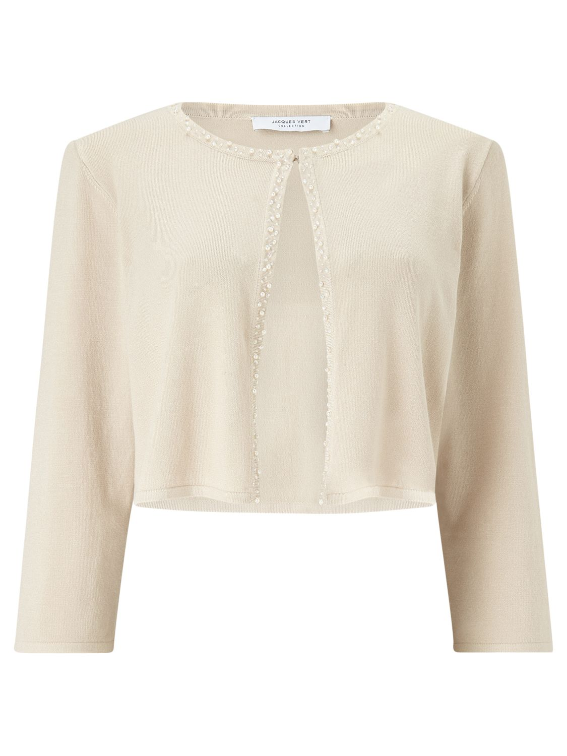 Jacques Vert Jacques Vert Petite Embellished Knit Cover Up, Neutral
