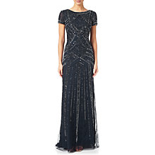 Buy Adrianna Papell Geometric Beaded Gown, Navy Online at johnlewis.com