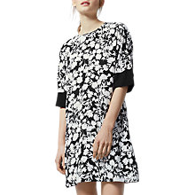 Buy Warehouse Brush Floral Dress, Black Pattern Online at johnlewis.com