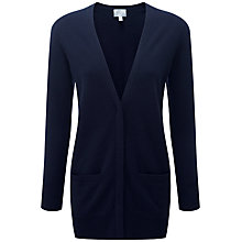 Buy Pure Collection Heidi Cashmere Boyfriend Cardigan, Navy Online at johnlewis.com