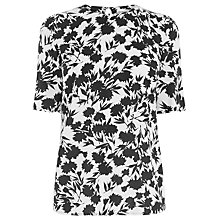 Buy Warehouse Brushed Floral T-Shirt, Neutral Print Online at johnlewis.com