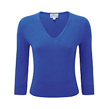 Buy Pure Collection Monica Cropped Cashmere Jumper, Sailor Blue Twist Online at johnlewis.com