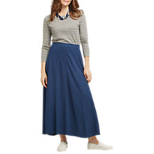 Buy East Hemp Cotton Skirt, Indigo Online at johnlewis.com