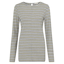 Buy East Stripe Boat Neck Top, Grey Online at johnlewis.com