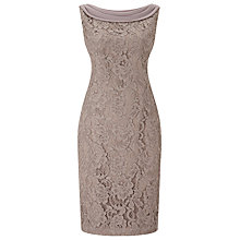 Buy Jacques Vert Petite Lace Drape Cape Dress, Mid Brown Online at johnlewis.com