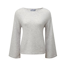 Buy Pure Collection Tiffany Flute Sleeve Sempre Jumper, Iced Grey Online at johnlewis.com