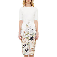 Buy Ted Baker Layli Gem Gardens Body Bodycon Dress, Ivory Online at johnlewis.com