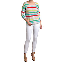 Buy Pure Collection Evelyn Relaxed Gassato Jumper, Multi Stripe Online at johnlewis.com