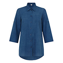 Buy East Pocket Detail Shirt, Indigo Online at johnlewis.com