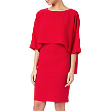 Buy Adrianna Papell Draped Blouson Sheath Dress, Lipstick Red Online at johnlewis.com