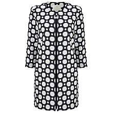 Buy Jacques Vert Jacquard Spot Long Jacket, Navy/Multi Online at johnlewis.com