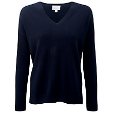 Buy Pure Collection Devon Relaxed Cashmere Jumper, Navy Online at johnlewis.com