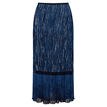 Buy East Lucille Print Pleat Skirt, Indigo Online at johnlewis.com