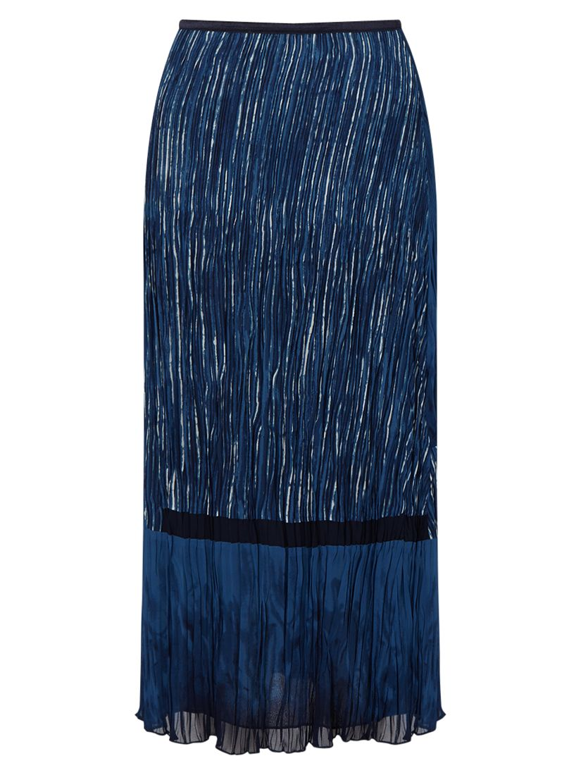 East East Lucille Print Pleat Skirt, Indigo