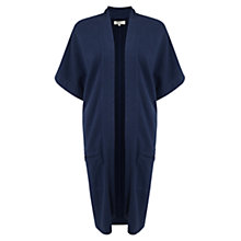 Buy East Hemp Jersey Cardigan, Navy Online at johnlewis.com