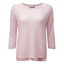 Buy Pure Collection Florence Relaxed Gassato Cashmere Jumper, Rose Mist Online at johnlewis.com