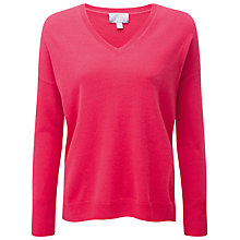 Buy Pure Collection Francesca Relaxed Cashmere Jumper, Sweet Pink Online at johnlewis.com