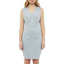 Buy Ted Baker Radiiad Topstitch Detail Pencil Dress, Light Grey Online at johnlewis.com
