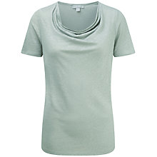 Buy Pure Collection Natalie Luxury Linen Cowl Neck Top, Zen Green Online at johnlewis.com