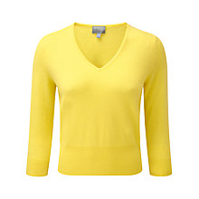 Buy Pure Collection Nora Cropped Cashmere Jumper, Sunshine Online at johnlewis.com