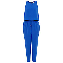 Buy Ted Baker Heidey Textured Drape Jumpsuit, Bright Blue Online at johnlewis.com