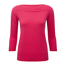Buy Pure Collection Helena Boat Neck Cashmere Jumper, Sweet Pink Online at johnlewis.com