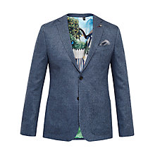 Buy Ted Baker Cram Herringbone Blazer, Blue Online at johnlewis.com