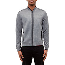 Buy Ted Baker Ace Jersey Bomber Jacket, Charcoal Online at johnlewis.com