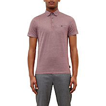 Buy Ted Baker Cro Woven Collar Cotton Polo Shirt Online at johnlewis.com