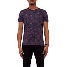 Buy Ted Baker Crafter Abstract T-Shirt, Purple Online at johnlewis.com