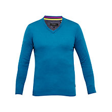 Buy Ted Baker Alterna Silk-Blend V-Neck Jumper Online at johnlewis.com