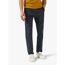 Buy Jigsaw Garment Dye Slim Stretch Chinos, Navy Online at johnlewis.com