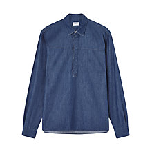 Buy Jigsaw Oversized Shirt, Indigo Online at johnlewis.com
