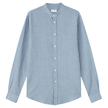 Buy Jigsaw Italian Cotton Linen Grandad Collar Shirt Online at johnlewis.com