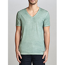Buy BOSS Orange Toulouse V-Neck T-Shirt, Turquoise/Aqua Online at johnlewis.com