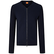 Buy BOSS Orange Kobamers Full-Zip Jumper, Dark Blue Online at johnlewis.com