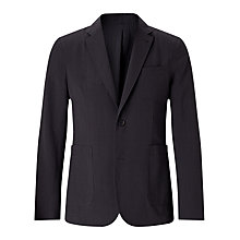 Buy Jigsaw Seersucker Blazer Jacket, Charcoal Online at johnlewis.com