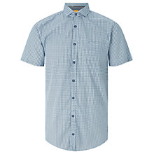 Buy BOSS Orange Cattitude Paisley Print Short Sleeve Shirt, Open Blue Online at johnlewis.com