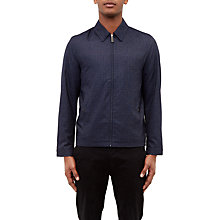 Buy Ted Baker Bailey Collared Check Bomber Jacket, Navy Online at johnlewis.com