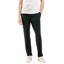 Buy Jigsaw Seersucker Slim Fit Trousers, Navy Online at johnlewis.com