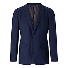 Buy Jigsaw Bloomsbury Italian Cotton Linen Suit Jacket, Indigo Online at johnlewis.com
