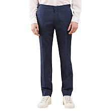 Buy Jigsaw Bloomsbury Italian Cotton Linen Suit Trousers, Indigo Online at johnlewis.com