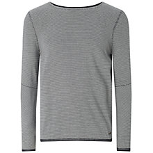 Buy BOSS Orange Aleynsir Striped Silk-Blend Jumper, Dark Blue Online at johnlewis.com