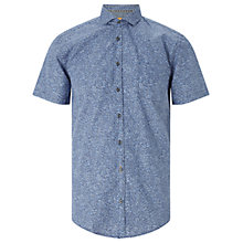 Buy BOSS Orange Cattitude Floral Print Short Sleeve Shirt, Open Blue Online at johnlewis.com