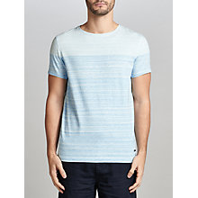 Buy BOSS Orange Trumble Colour Block T-Shirt, Bright Blue Online at johnlewis.com