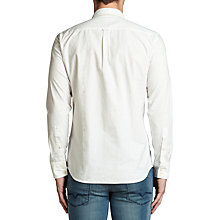 Buy BOSS Orange Elvedge Cotton Shirt, White Online at johnlewis.com