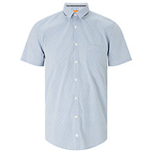Buy BOSS Orange Eglam Short Sleeve Shirt, Open Blue Online at johnlewis.com