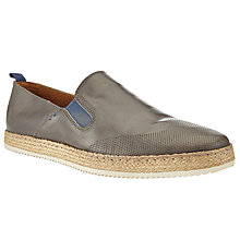 Buy Kin by John Lewis Perforated Leather Espadrilles, Grey Online at johnlewis.com