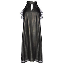 Buy True Decadence Ruffle Sleeveless Dress, Black Online at johnlewis.com