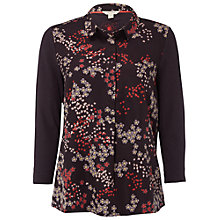 Buy White Stuff Ditsy Daisy Print Jersey Shirt, Charcoal Online at johnlewis.com